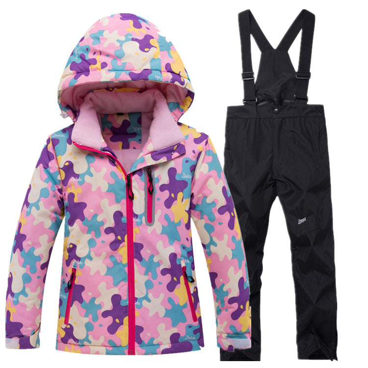 Girls Fashion Cute Winter Sports Waterproof Snow Suits