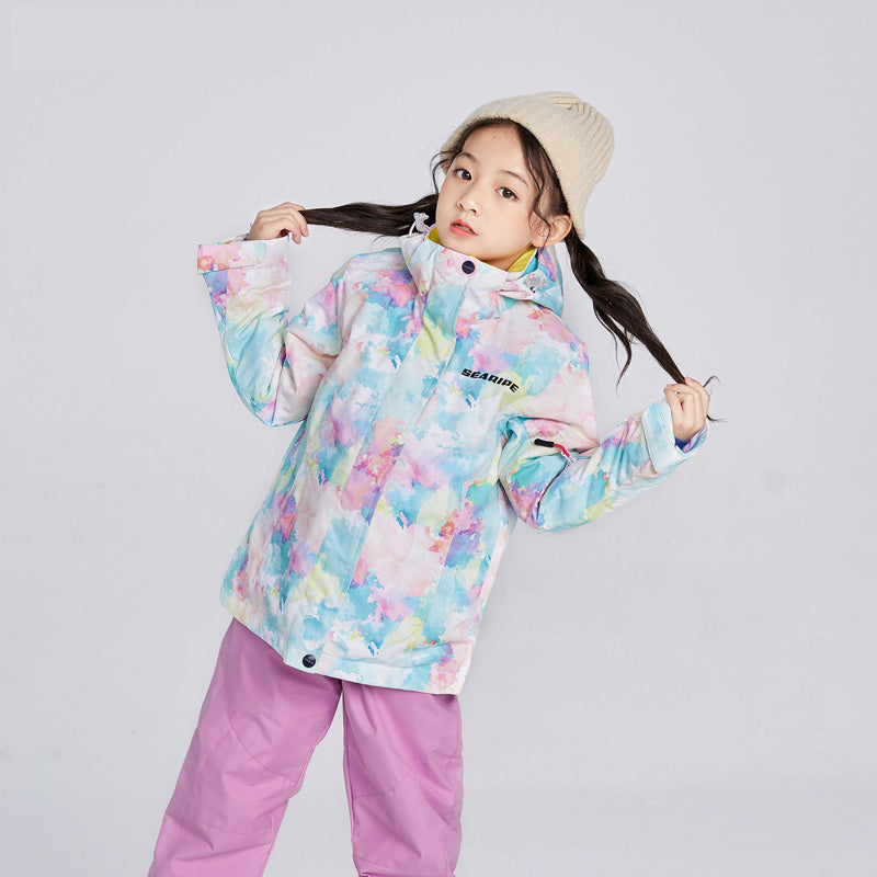 Girls Searipe Color Forest Waterproof Ski Jacket