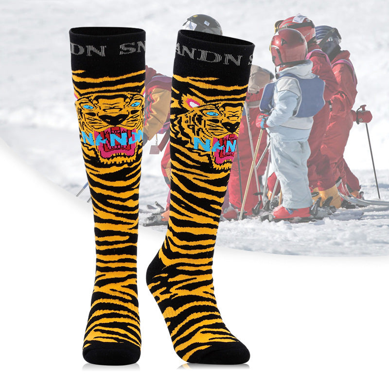 Boy & Girl Nandn Cute Pattern Unisex Ski & Snowboard Socks