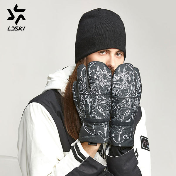 Women's LD Ski 3 Fingers Sexy Lady Snow Mittens