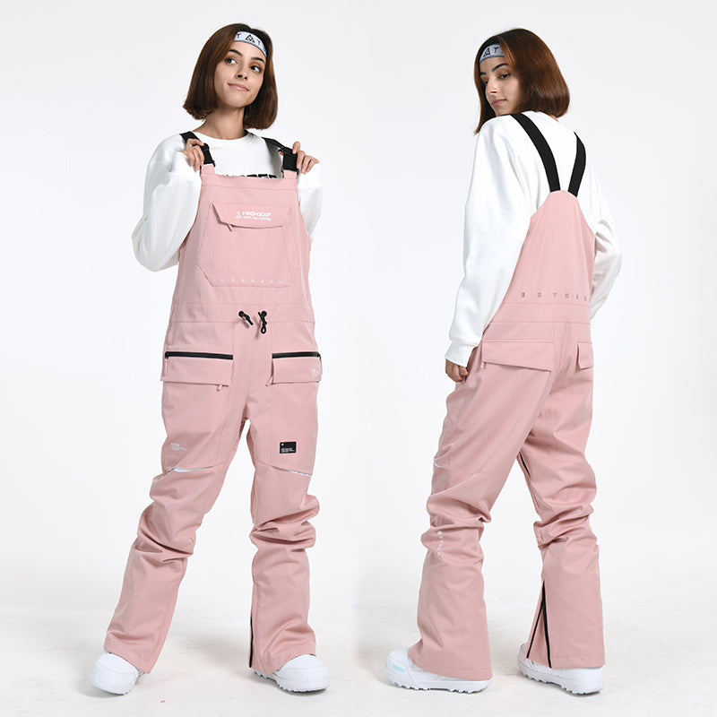 Women's Slim Fit Winter Ski Pants Overall Bib Snowboard Pants
