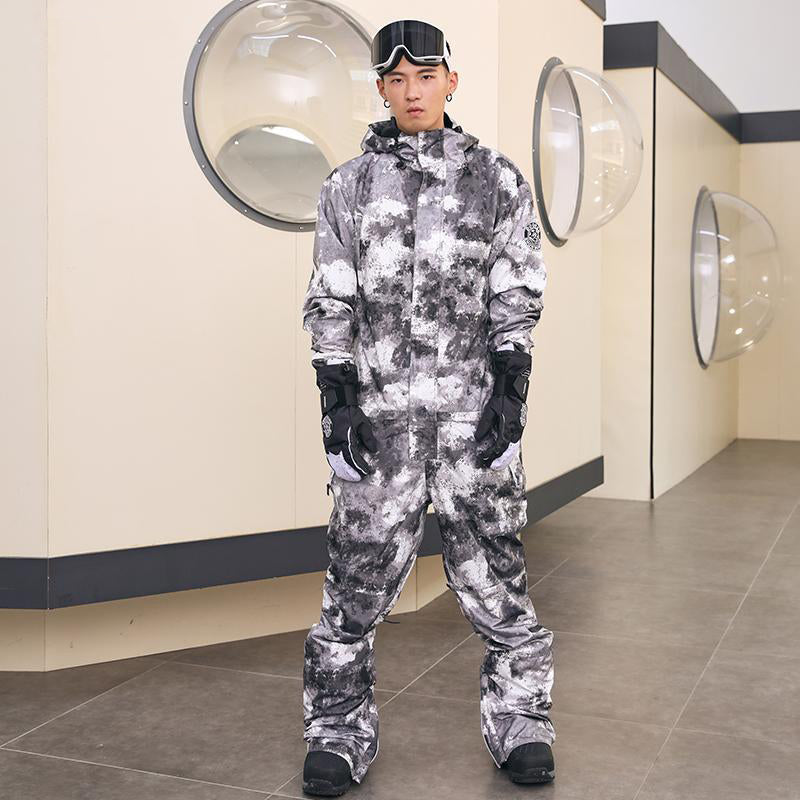 Men's Doorek Superb Camo One Piece Ski Suits Winter Snowsuits