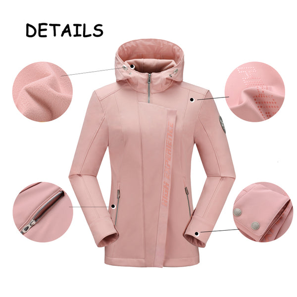Women's High Experience Polar Waterproof Hooded Fleece Jacket