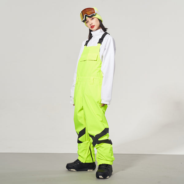 Women's Doorek Superb Unisex Neon Glimmer Snow Bibs