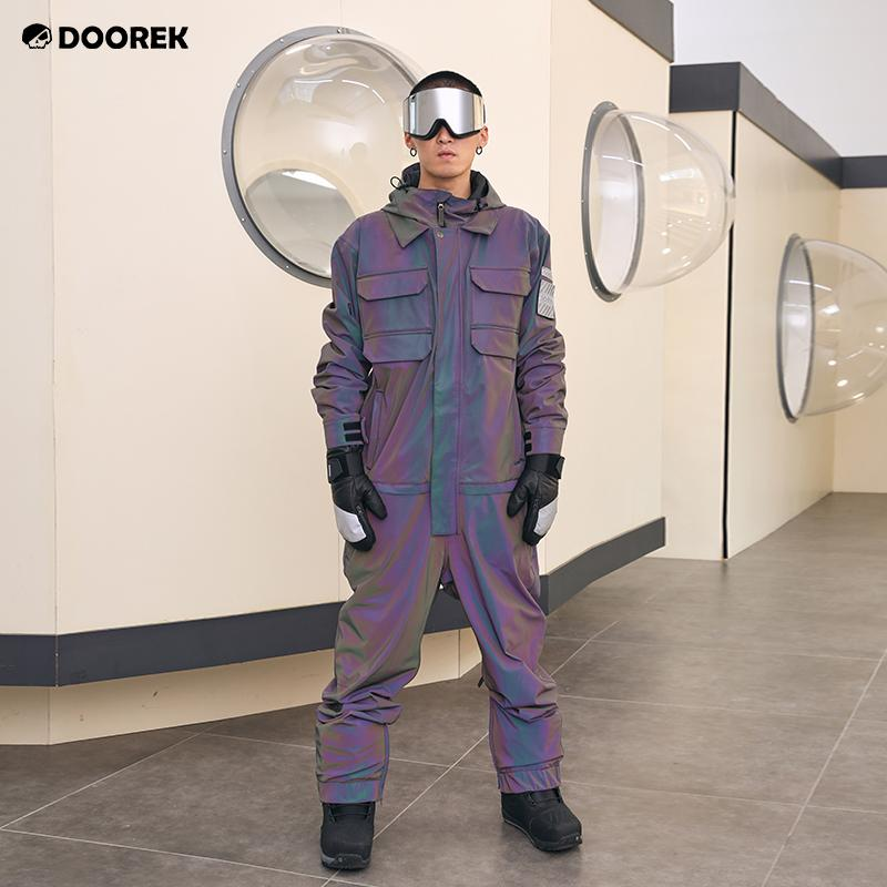 Men's Doorek Superb Unisex Neon Glimmer One Piece Ski Jumpsuit