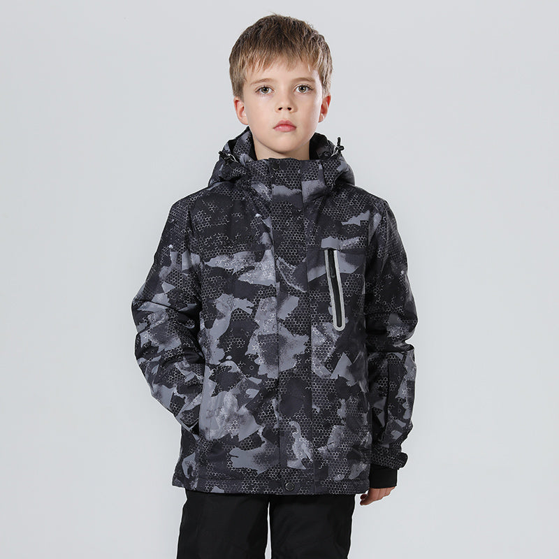 Boy's High Experience Winter Sportswear 15k Waterproof Snowboard Jacket