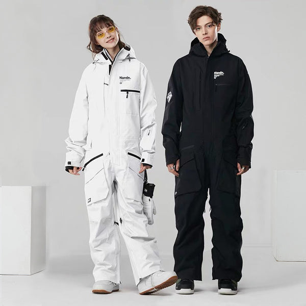Nandn Urban Practical Unisex Winter Outdoor Sportswear Waterproof One Piece Snowboard Suits