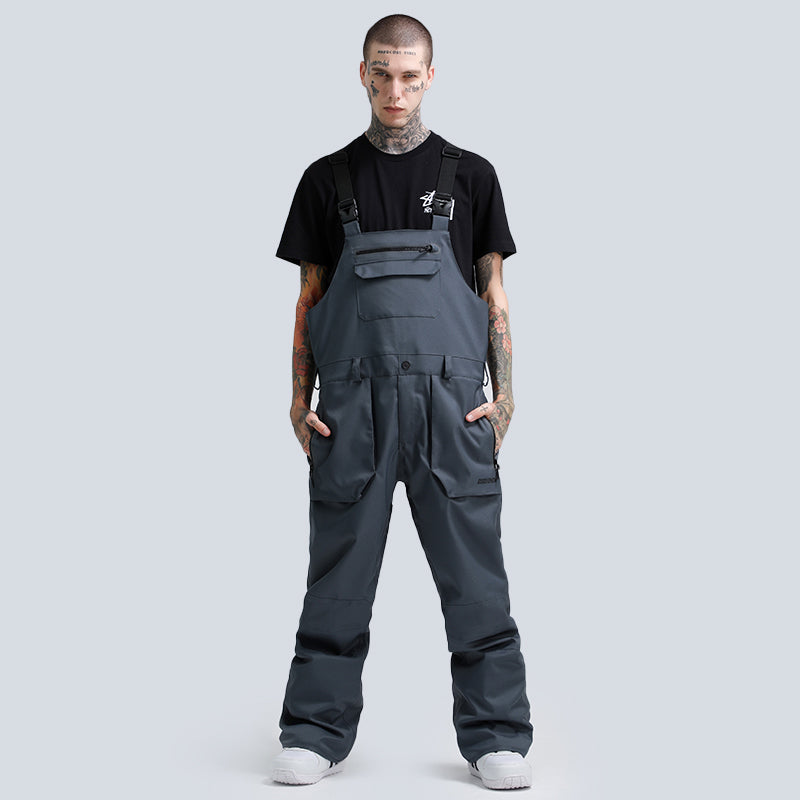 Men's Gsou Snow Outdoor Fashion Gangster Style Snowboard Bib Snow Pants
