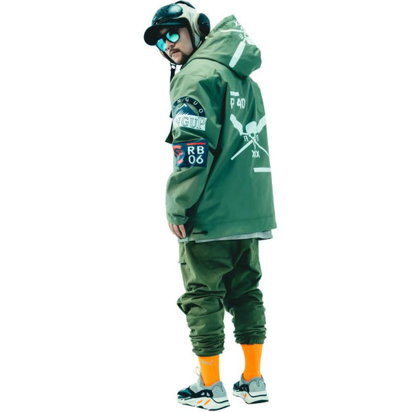 PINGUP Flying Tiger P-40 Fighter Snowboard Jacket