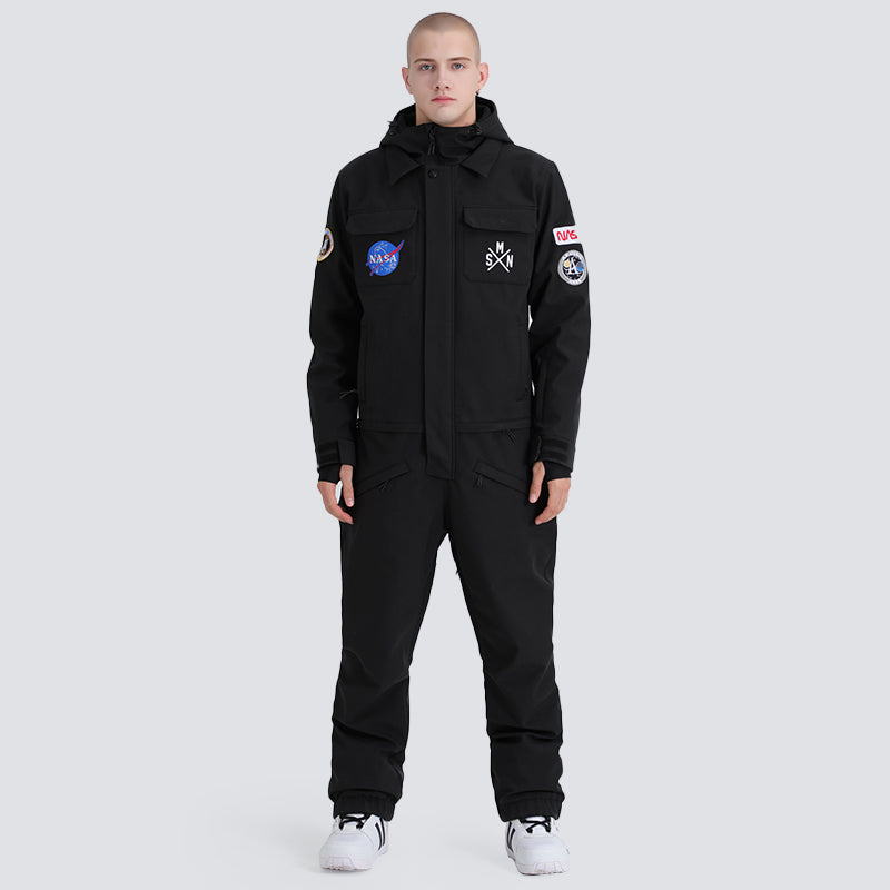 Men's SMN Slope Star Nasa Icon Ski Suits Winter Jumpsuit