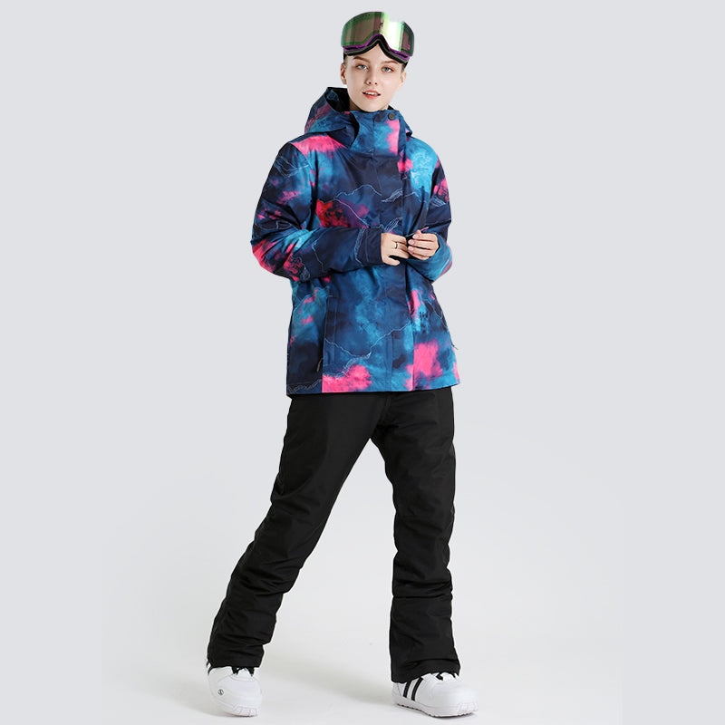 Women's SMN Winter Fashion Snow Graffiti Ski Suits - Jacket & Pants Set