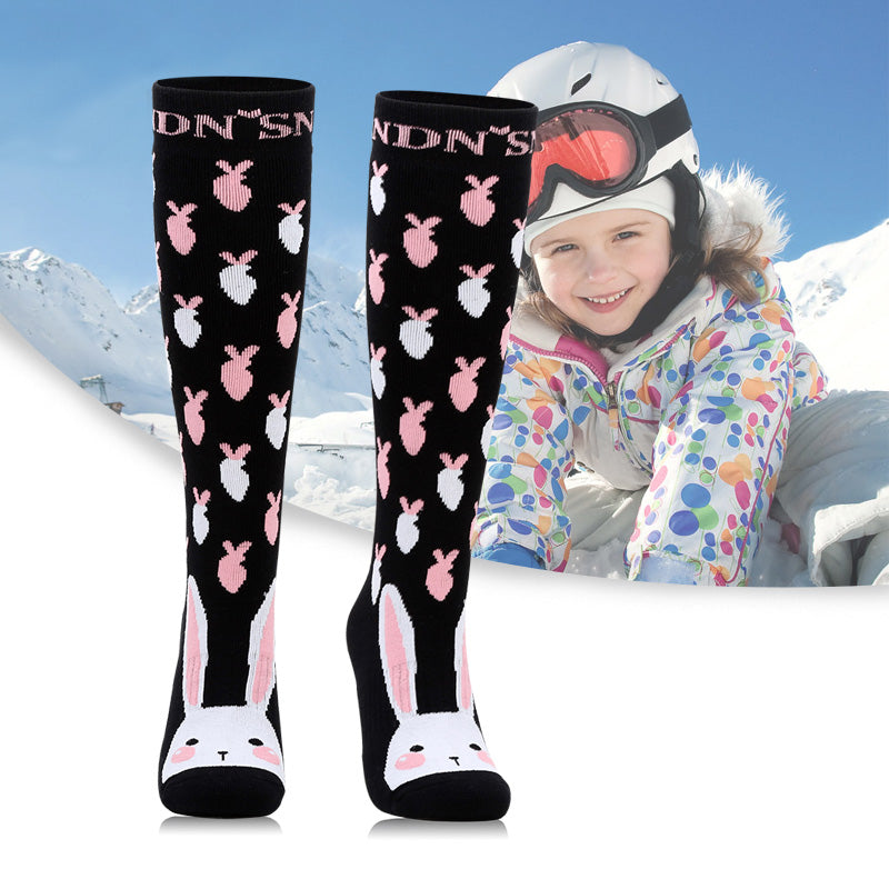Girl & Boy Nandn Cute Pattern Unisex Ski & Snowboard Socks
