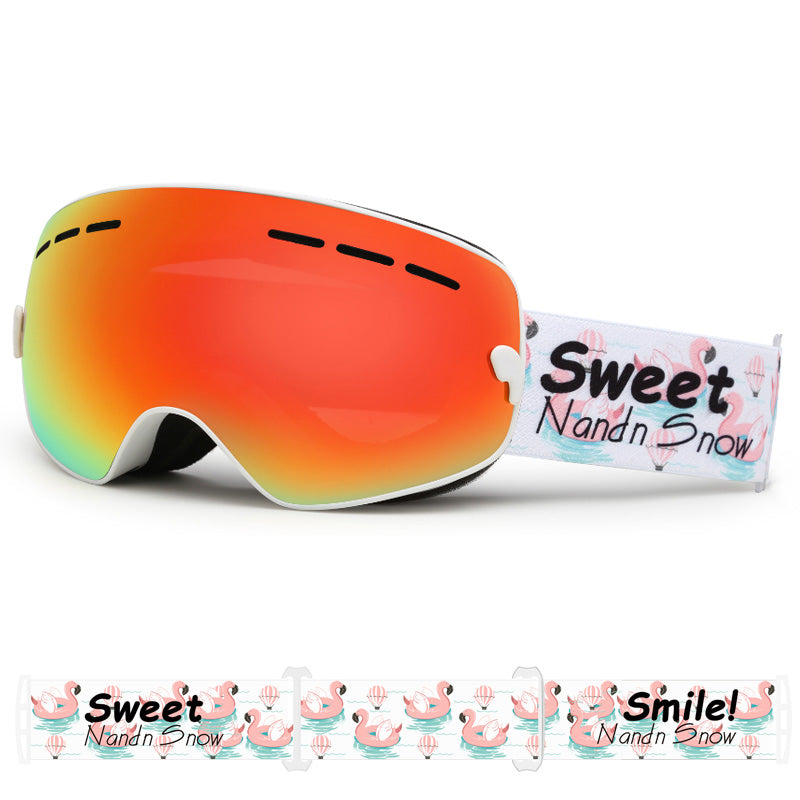 Kid's Nandn Unisex Winter Creative Colorful Strap Snow Goggles Package