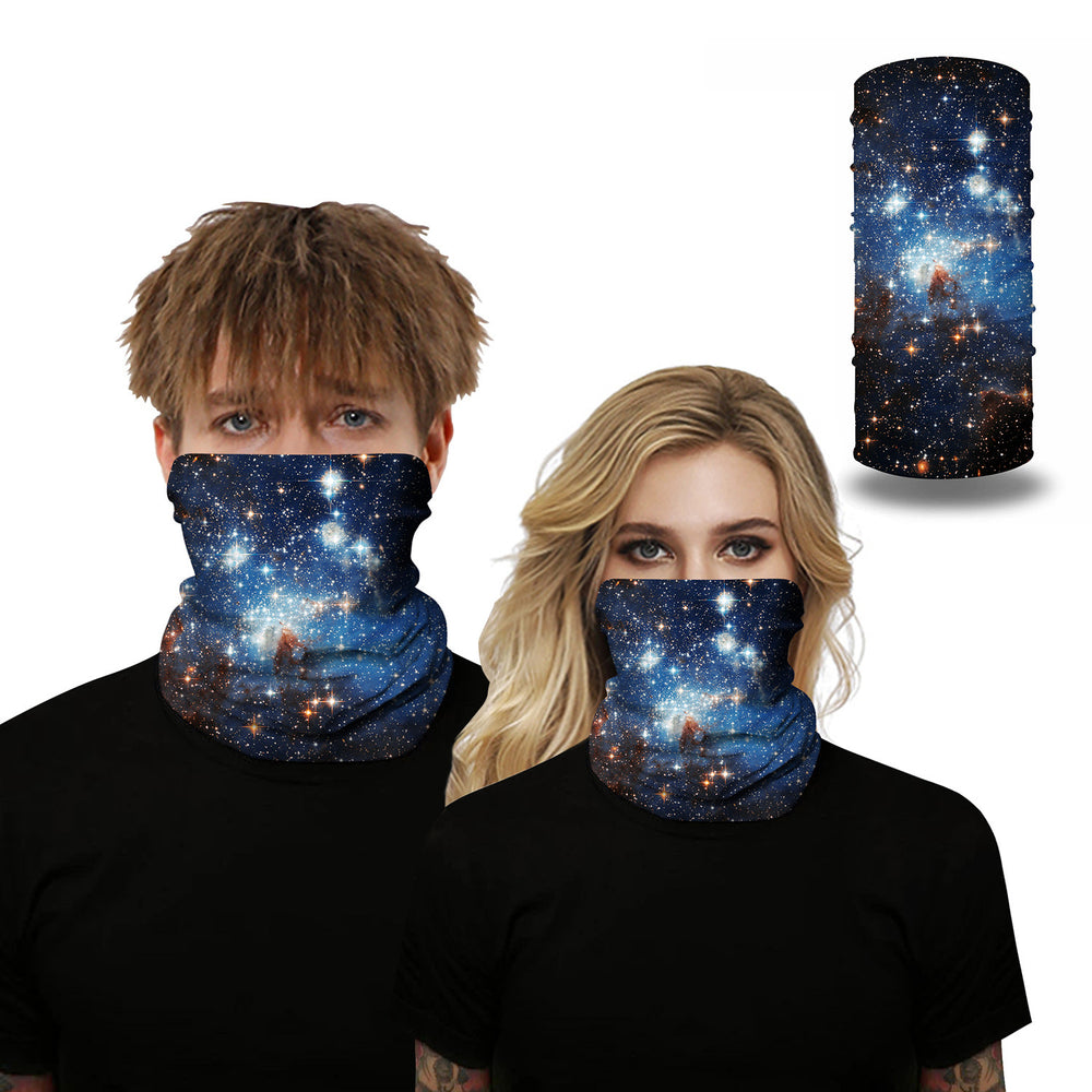 Unisex Color Fancy Pattern Face Masks & Neck Warmer