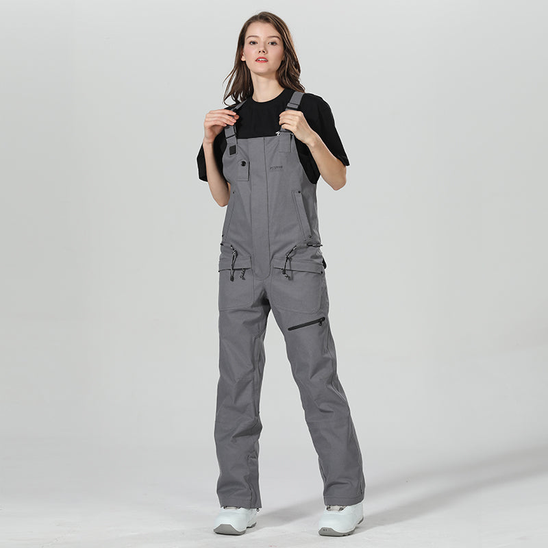 Women's Winter Fashion Slim Fit Ski Pants Overall Bib Snow Pants