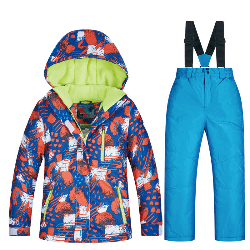 Boys Mountain Snow Powder Waterproof Ski / Snowboard Winter Suits