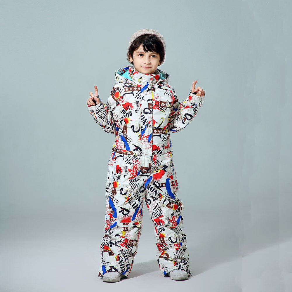 Boys One Piece New Style Winter Fashion Ski Suits Winter Jumpsuit Snowsuits