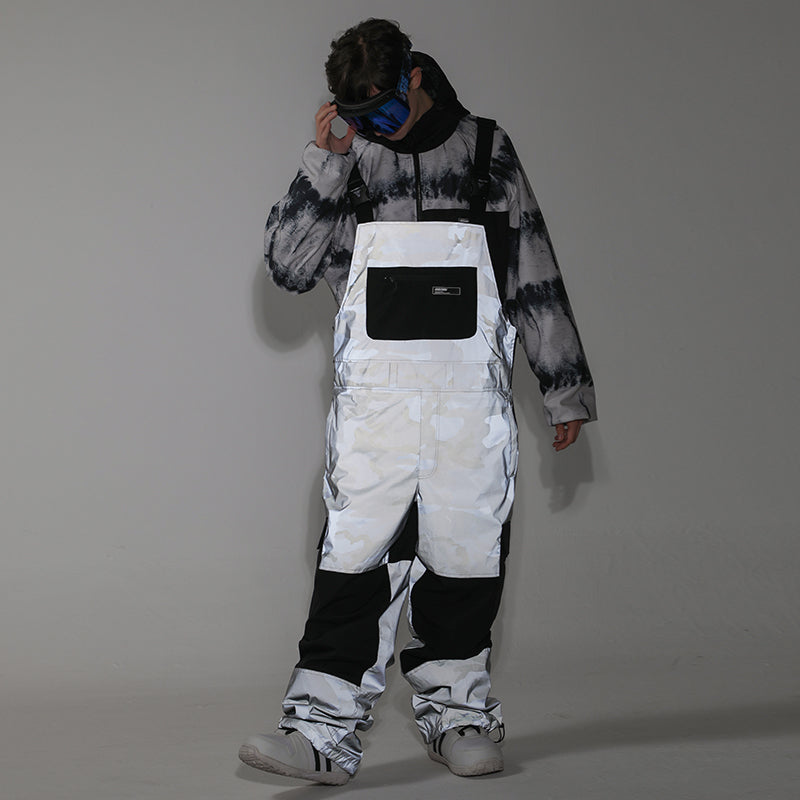 Men's Unisex Gsou Snow Serein Glimmer Outdoor Ski Pants Snow Bibs