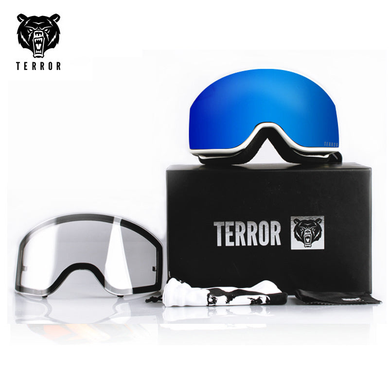Unisex Terror Frame Snowboard Goggles With 1 Spare Lens