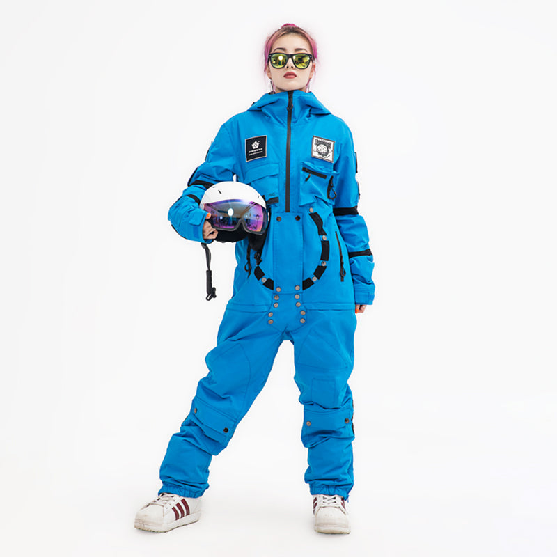 Women's PINGUP Nasa Space Station One Piece Snowboard Suits