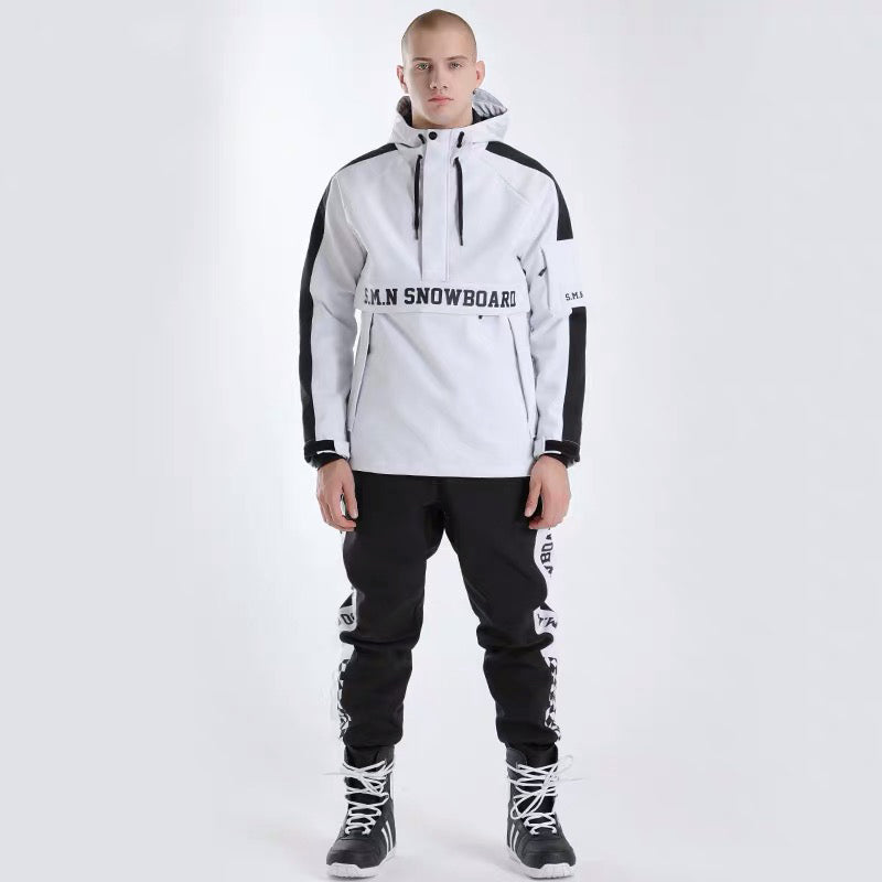 Mens SMN Winter Fashion Snowsuit Snow Jacket & Pants Set