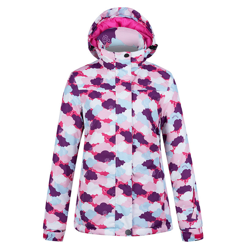 Women's Winter Wonderland Ice Skating Cute Outdoor Ski/Snowboard Jacket