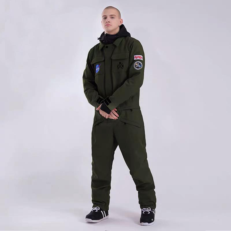 Men's SMN Slope Star Nasa Icon Ski Suits Winter Snowsuits