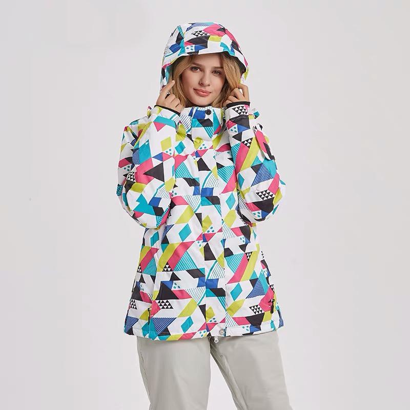 Women's Mutu Snow Colorful Snow Powder Insulated Snowboard Jacket