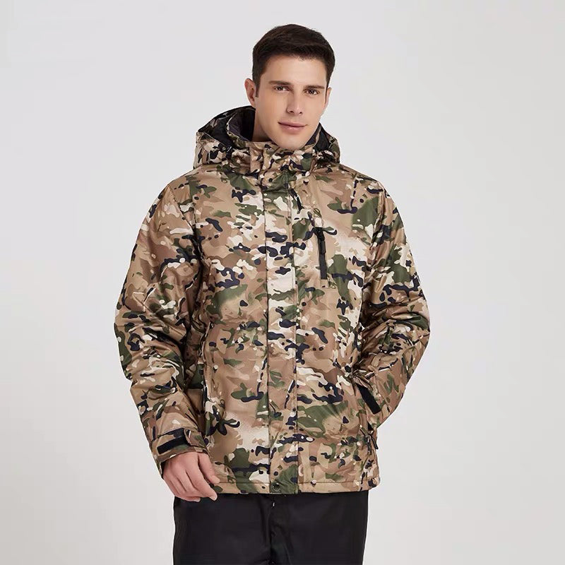 Men's Mutu Snow Camo Waterproof Insulated Ski Jacket