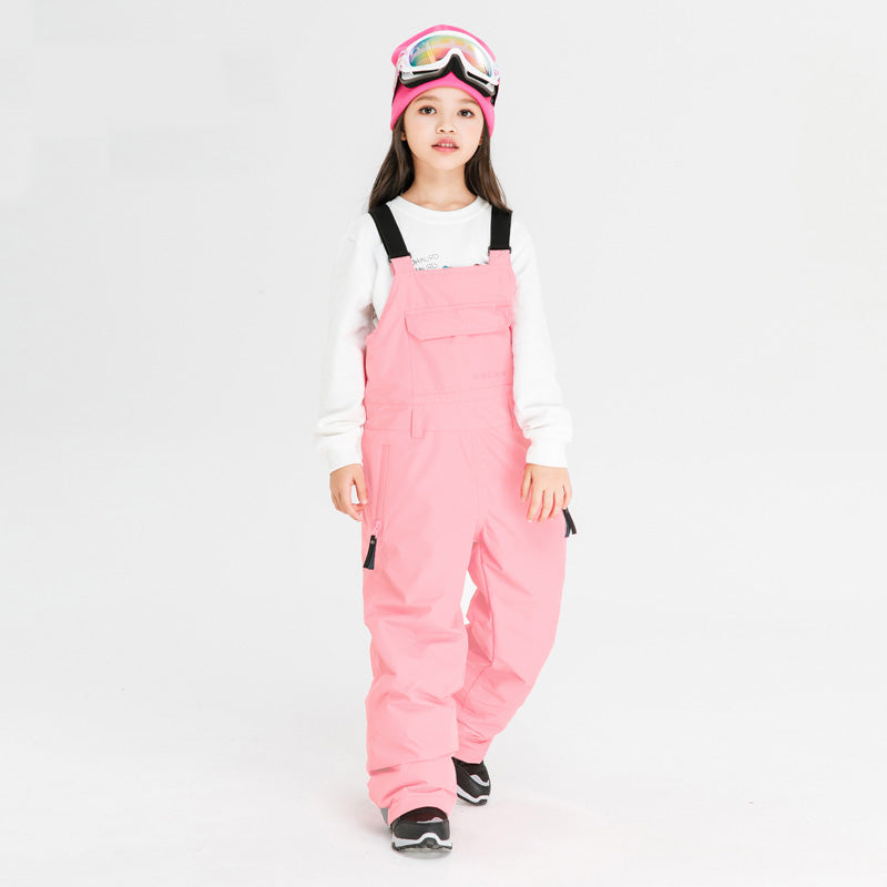 Boy & Girls Nandn Extreme Mountain Outdoor Ski Pants Snow Bibs