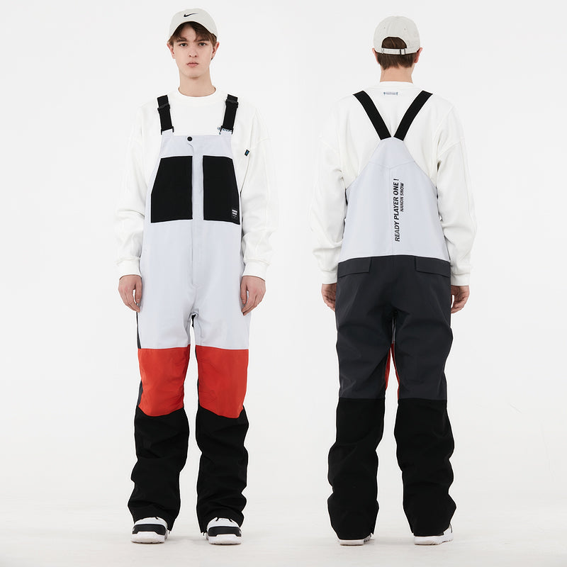 Men's Nandn Unisex Mountain Cheers Snow Bibs Snowboard Pants