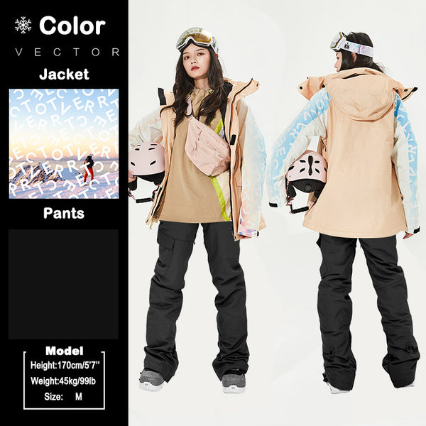Women's Vector Chasing Light Messenger Winter Snowboard Suits