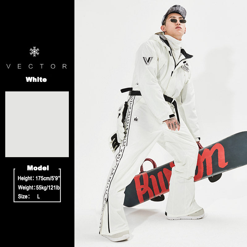 Men's Vector Explore The North Winter One Piece Snowboard Suits Ski Jumpsuits