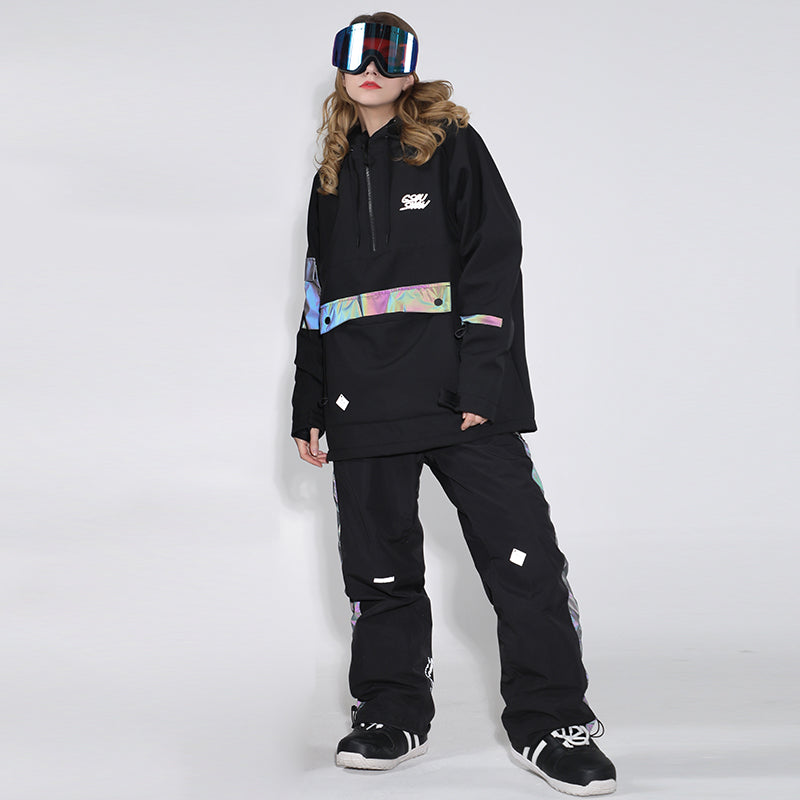 Womens Unisex Superb Neon Glimmer Snowsuit Jacket & Pants Set