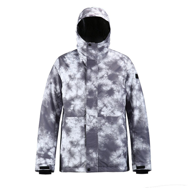 Men's SMN Winter Mountain Snowflake Freestyle Ski Snowboard Jacket - Snowverb