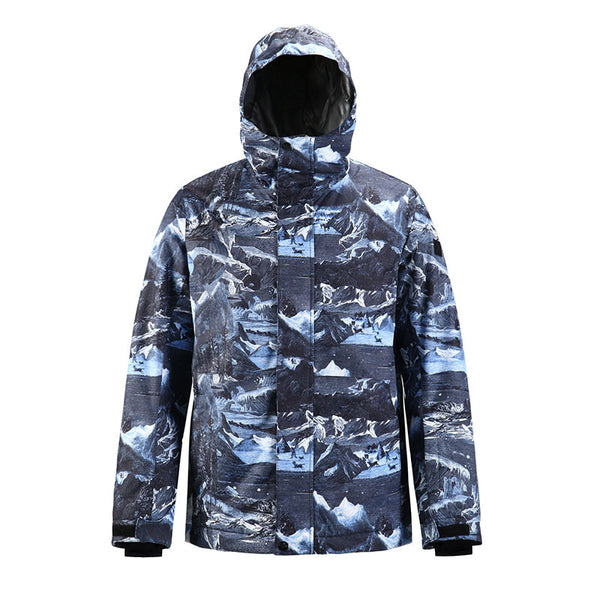 Men's SMN Winter Mountain Snow Shred Freestyle Ski Snowboard Jacket - Snowverb