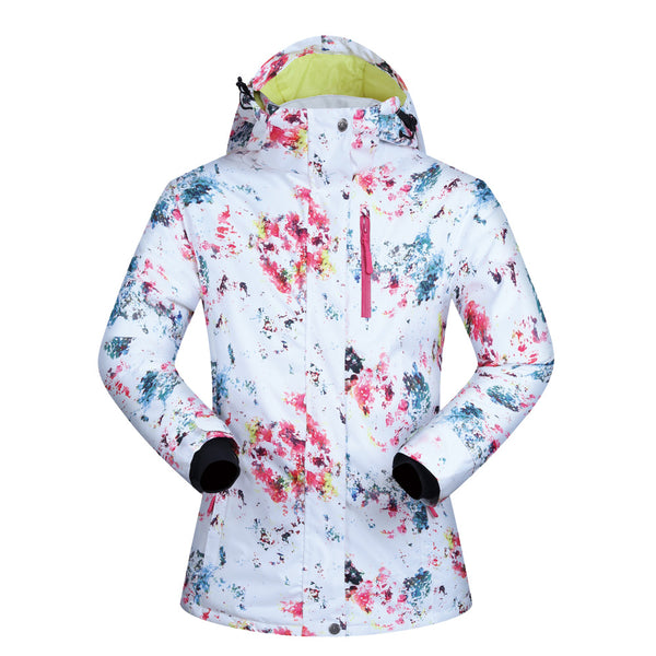 Women's Mutu Snow White Bright Insulated Snowboard Jacket