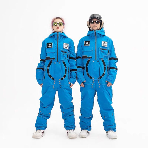 Men's PINGUP Nasa Space Station One Piece Snowboard Suits