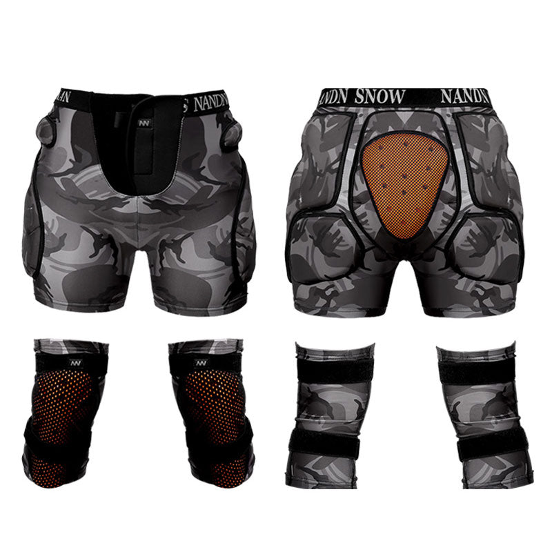 Nandn Unisex Total Impact Protective Shorts & Knee Pads