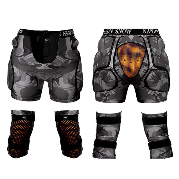 Nandn Unisex Total Impact Protective Shorts / Knee Pads