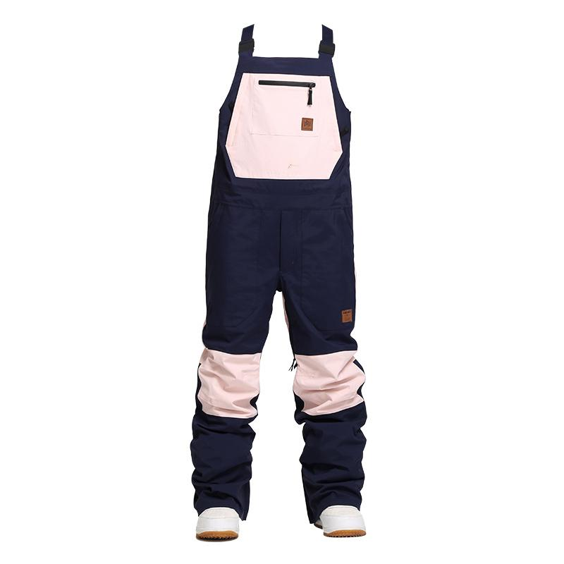 Women's Nandn Unisex Winter Shred Snow Pow Overall Snowboard Bibs Snow Pants