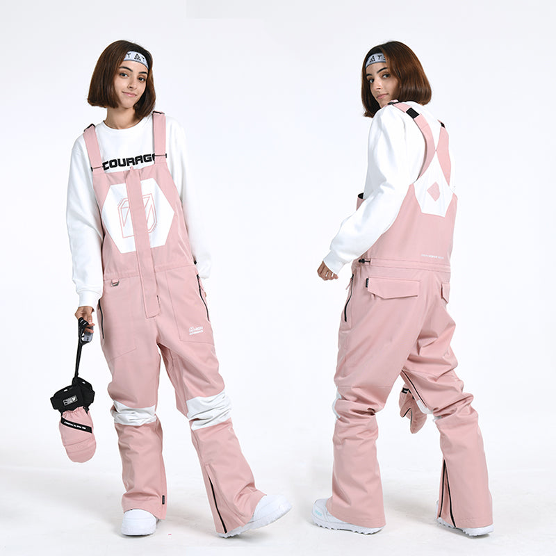 Women's Winter Mountain Slim Fit Ski Pants Overall Bib Snow Pants