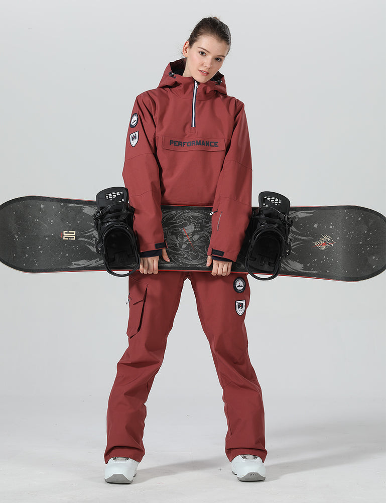 Womens Mountain Crew Two Piece Insulated Winter Pioneer Snowboard Suit