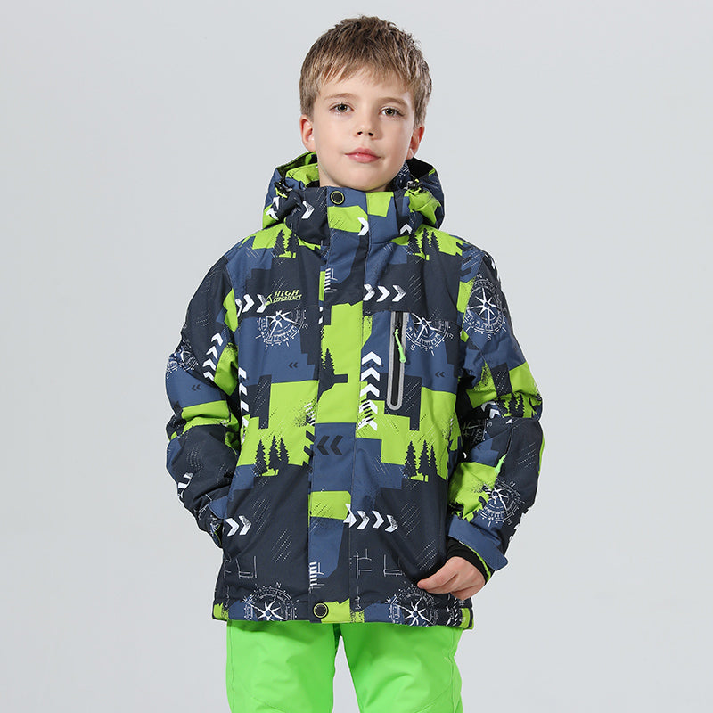 Boy's High Experience Winter Sportswear Waterproof Snowboard Jacket