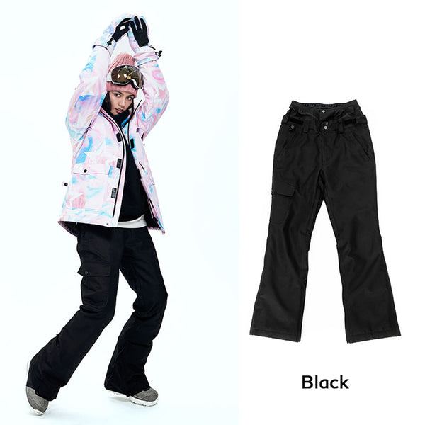 Women's Vector 10k Waterproof Mountains Girl Black Snowboard/Ski Pants