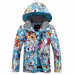Boys Gsou Snow Cute Cartoon 10k Snow Jacket
