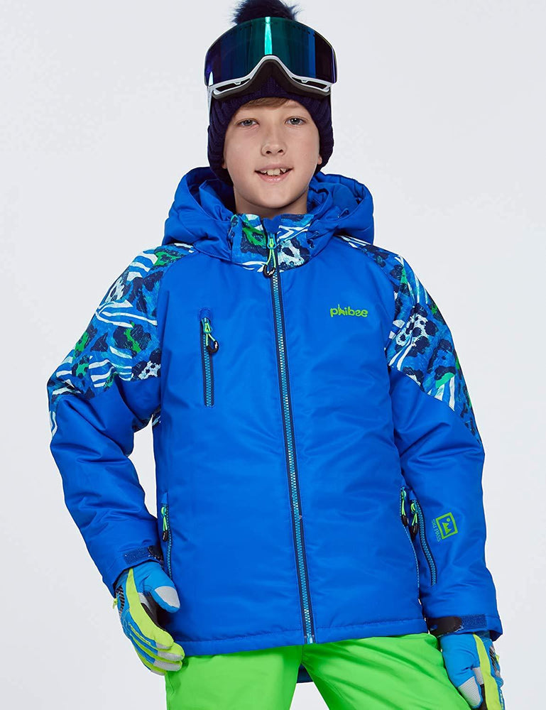 Boy's Phibee Attractive Back Winter Sportswear Waterproof Ski Jacket
