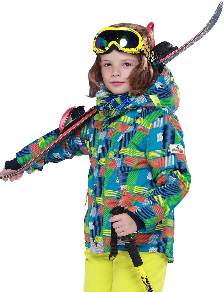 Boy's Phibee Mountains Explore Winter Sportswear Waterproof Ski Jacket