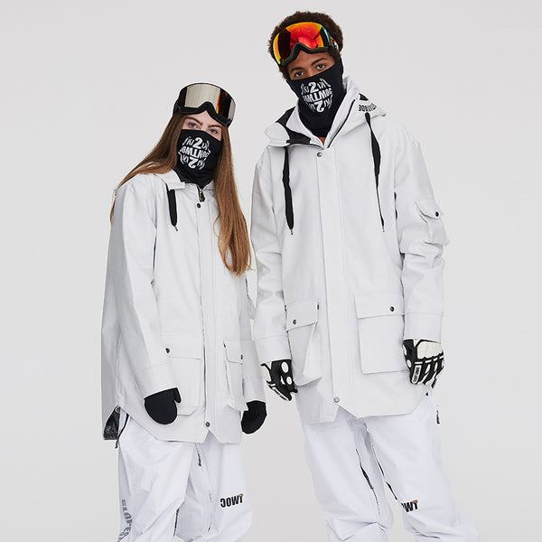 Women's TWOC Multi-functional Waterproof Unisex Snowboard Jacket Winter Coat