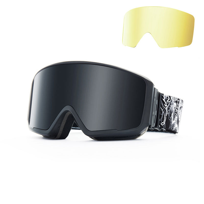 Unisex LD Ski Snowboard Magnetic Snow Goggles / 1 Spare Lens
